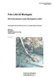 Från Lillå till Munkgata Ett brofundament under Munkgatans ... - KMMD