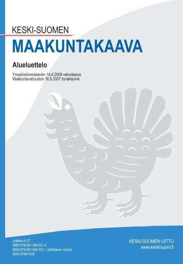 MAAKUNTAKAAVA Alueluettelo - Keski-Suomen liitto