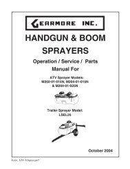 HANDGUN & BOOM SPRAYERS - Gearmore, Inc.