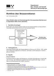 Richtlinie über Strassenreklamen - Brugg