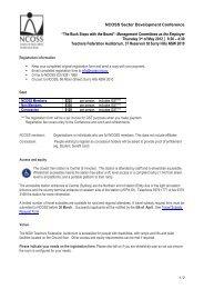 Registration Form - NCOSS