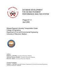 Database Development for an HMA Pavement Performance ...
