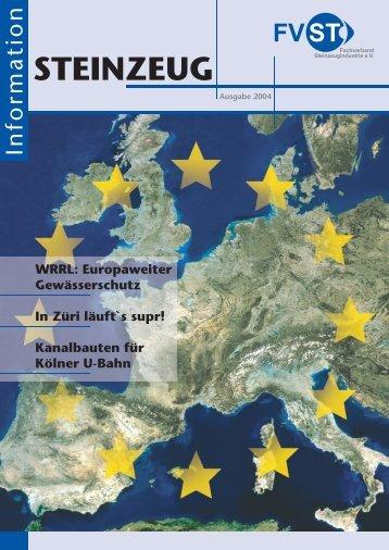 STEINZEUG Information 2004 - Fachverband Steinzeugindustrie eV