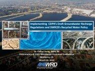 Implementing California's New Draft Groundwater Replenishment ...
