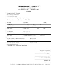 Health Form - Coppin State University