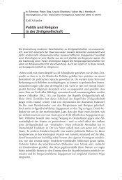 Politik und Relgigion in der Zivilgesellschaft