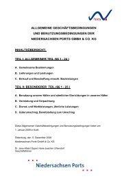 AGB Niedersachsen Ports
