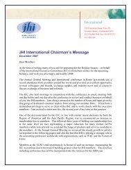 Chairman's newsletter - December 2007 Final for Print - JHI