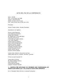 ACTA DEL PLE DE LA CORPORACIÓ