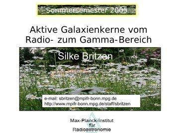 Teil II, AGN-Entwicklung - Mpifr-bonn.mpg.de