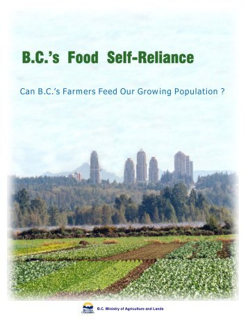 BC's Food Self-Reliance - Agriculture