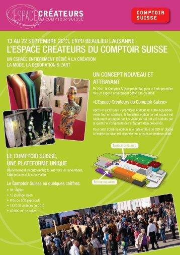 L'ESPACE CREATEURS DU COMPTOIR SUISSE - Swissceramics