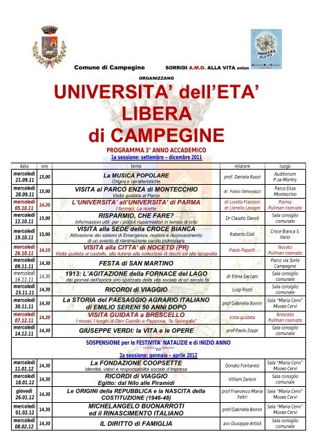 Programma del 3 - Comune di Campegine