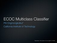 ECOC Multiclass Classifier - California Institute of Technology
