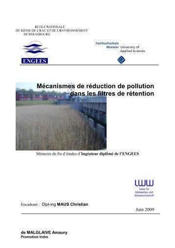 Mécanismes de réduction de pollution dans les filtres de ... - ENGEES