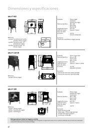 Dimensiones y especificaciones