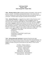 2013-03-07 Minutes.pdf - Lake Sawyer Hawks