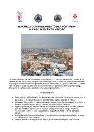 norme di comportamento per i cittadini in caso di evento nevoso