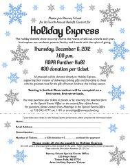 Holiday Express invitation - Ranney School