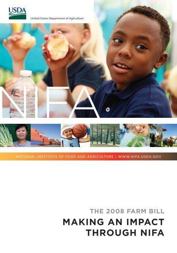 The 2008 Farm Bill: Making an impact through NIFA - National ...