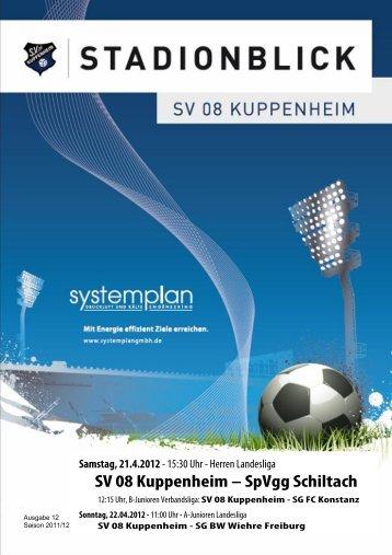 Stadionblick Ausgabe 12 - SV 08 Kuppenheim