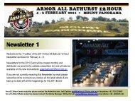 Newsletter 1 - Bathurst 12 Hour