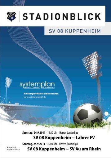 Stadionblick Ausgabe 4 - SV 08 Kuppenheim