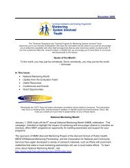 December '08 Newsletter - Mentoring System Involved Youth