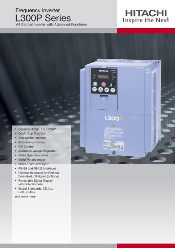 L300P Series - Hitachi Europe GmbH