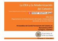 La OEA y la Modernización del Catastro - CPCI