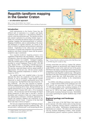 Regolith–landform mapping in the Gawler Craton - MISA