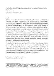Nové trendy v hospodářské politice ochrany přírody – role institucí a ...