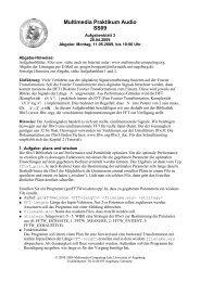 Multimedia Praktikum Audio SS09 - Multimedia Computing and ...