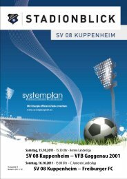 Stadionblick Ausgabe 6 - SV 08 Kuppenheim