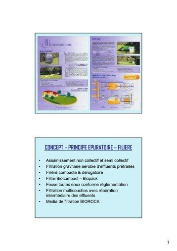 CONCEPT – PRINCIPE EPURATOIRE – FILIERE - Ascomade