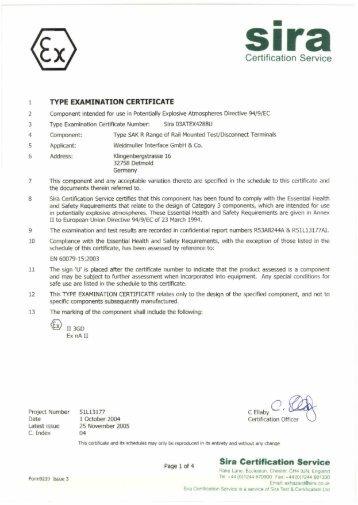 Certification Service Sira Certificatlon Service