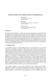 Eulerian simulation of the installation process of ... - Geo-Engineering