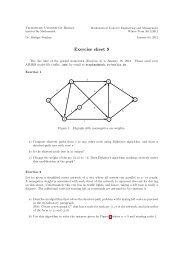Exercise sheet 9 - Institut für Mathematik - TU Berlin