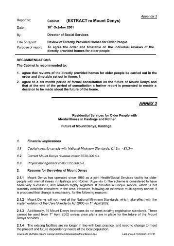 Appendix 2 - East Sussex County Council
