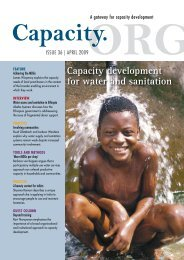 Capacity development for water and sanitation - Capacity.org