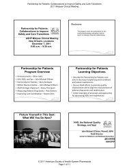 Partnership for Patients Program Overview Partnership for Patients ...