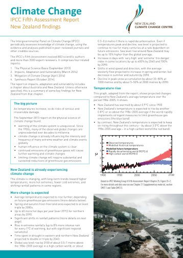 NZCCC Summary_IPCC AR5 NZ Findings_April 2014 WEB