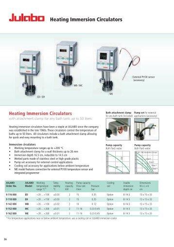 Heating Immersion Circulators