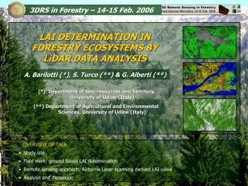 LAI determination in forestry ecosystem by LiDAR data analysis