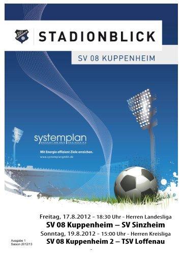 Ausgabe 1 - SV 08 Kuppenheim