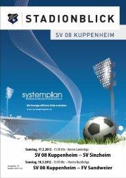 Stadionblick Ausgabe 10 - SV 08 Kuppenheim