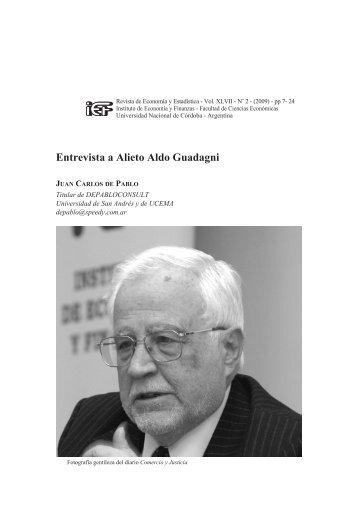 Entrevista a Alieto Aldo Guadagni - Instituto de Economía y ...