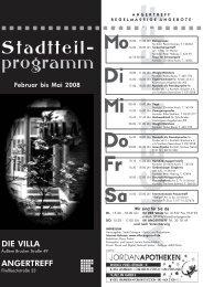Stadtteil- programm - Die Villa