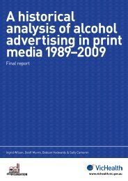 A historical analysis of alcohol advertising in print media ... - DrugInfo