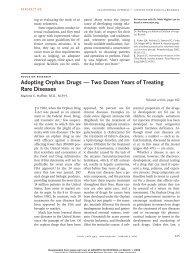 Adopting Orphan Drugs — Two Dozen Years of Treating Rare ... - GrG